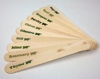 Letterpress Herb Garden Markers - Set of 10