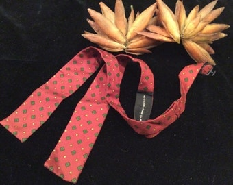 Vintage Funky 1970s Adjustable Untied Bow Tie, Vintage Menswear, Vintage Men's Accessories