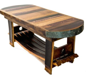 Wine Barrel Coffee/Wine Table