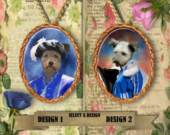 Pumi Jewelry. Pumi Pendant or Brooch. Pumi Necklace. Pumi Portrait. Custom Dog Jewelry by Nobility Dogs. Dog Handmade Jewelry