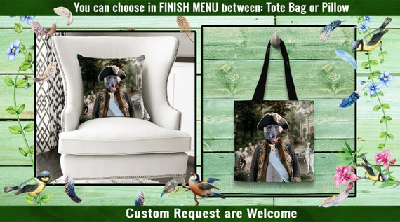 Scottish Deerhound Pillow or Tote Bag/Deerhound Art/Dog Tote Bag/Dog Pillow/Dog Art/Custom Dog Portrait/Deerhound