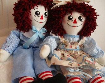 Handmade  Raggedy Ann & Andy