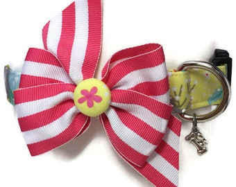 Yellow Spring Floral Dog Collar Size Extra Large