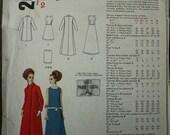Black Friday Sale 55%Off Vogue Paris Original Patou 2029 1960s 60s Mod Evening Dress and Coat Vintage Sewing Pattern Size 10 Bust 32.5