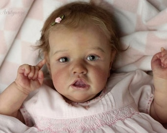 "Saskia Time Limited Edition  22.5"" when complete Reborn Doll KIT or Order a custom.  by Bonnie Brown  *N.E.W  kit  J.N.R. Customs"