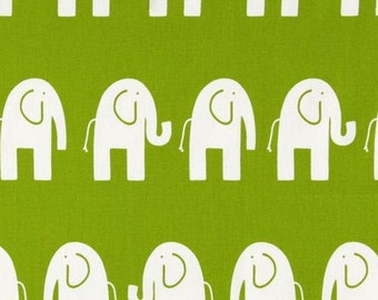 Fabric Yardage Green Elephant Fabric - Premier Prints Fabric - Chartreuse and White Ele - Fabric by the Yard