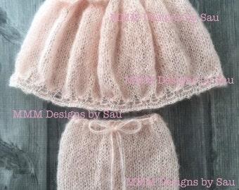 PDF Knitting Pattern - Newborn Big bow swing top PDF SET #152