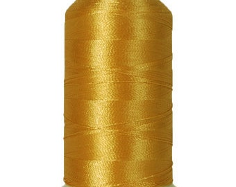 No. 121 (Lt. Gold) 1000m Polyester Spool of Embroidery Machine Thread
