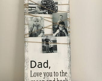 Unique gift for dad, custom father's day gift, father of the bride gift, first fathers day, wedding sign, dad sign, birthday gift for dad