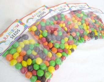Rainbow Favors Rainbow Treat Bags Rainbow Seeds Bag Tags Toppers And Cello Bags Party Favors Bag Topper Rainbow Party Unicorn Party LGBTQ