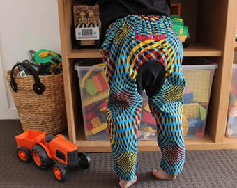 African Wax Print Kids Harem Pants Toddler Two Year Old