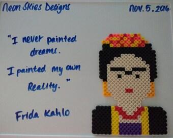 Frida Kahlo Perler Bead Charm