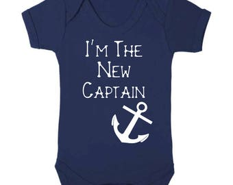 I'm The New Captain Baby Vest