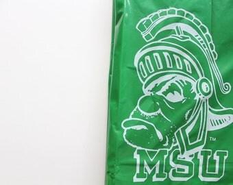 Vintage Michigan State University Spartans Rain Poncho 1980s