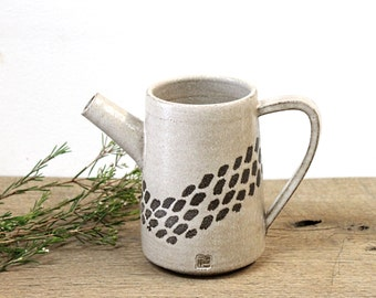 handmade Stoneware Pitcher, Handmade Pottery Pitcher, Stoneware Pottery Pitcher, Handmade Ceramic Jug, Beige Pitcher, Beige Jug