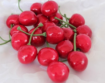 Artificial Fake Plastic Cherry - Faux Cherries - Fake Cherry