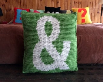 Ampersand Pillow DIY Pattern