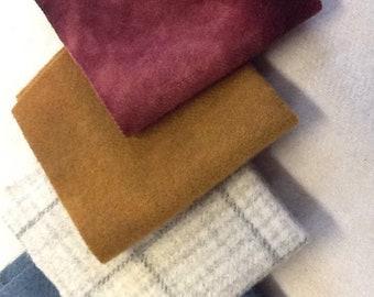 Wool Bundle Assorted Shades Hand Dyed Felted Wool - rwb2