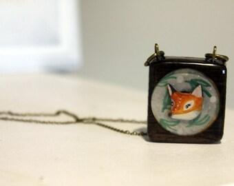 Fox Portrait Necklace