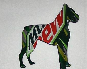Boxer Dog Magnet - Mountain Dew Mtn Dew Soda Can (Replica)