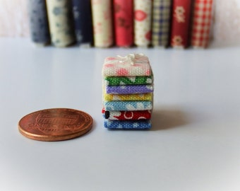 Miniature Fabric Bundle 1:12 scale, One inch scale (Bundle A)