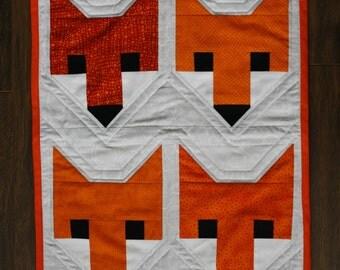 Fox Doll Quilt Mini Quilt Orange Fox