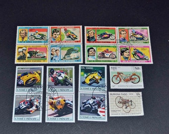 50  Motorcyle stamps from around the world B94