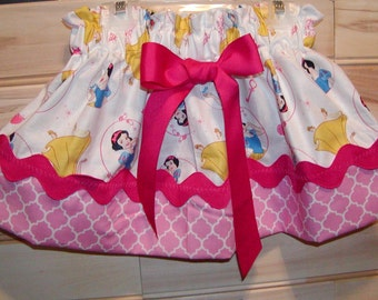 Girls skirt, Infant skirt, toddler skirt, Custom..Snow princess Inspired N Pink..sizes newborn to 10 girls