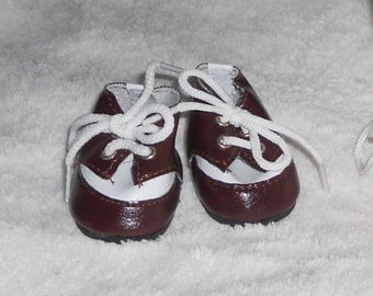 1 Pair Of Brown & White Sneakers shoes for American Girl Wellie Wishers and Heart for Heart Dolls