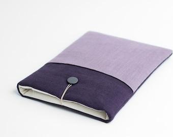 Macbook 12 sleeve, Macbook 12 inch case, violet with rose pocket