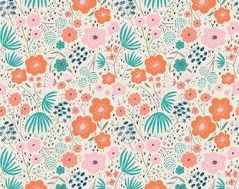 Ava Rose by Deena Rutter for Riley Blake Designs, Floral Cream, SKU C5872, 1 yd