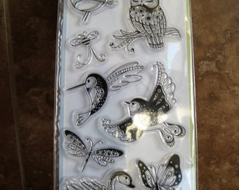 Birds and Butterflies Clear Stamp Set