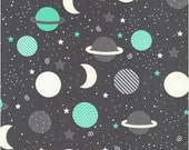 Mint Planets from Robert Kaufman's Space Explorers Collection by Ann Kelle