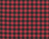 "END OF BOLT - 9"" X 44"" - Red Plaid from Robert Kaufman's Burly Beaver Collection by Andie Hanna"