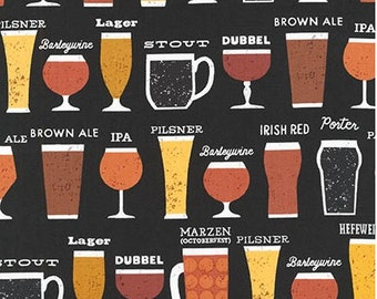 Beer Glasses on Black from Robert Kaufman's Cheers Collection by Mo Mullan