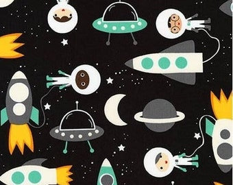 Mint Super Kids Astronauts and Space Ships from Robert Kaufman's Space Explorers Collection by Ann Kelle
