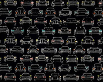 Car Headlamps on Dusk From Birch Organic Fabric's Trans-Pacific Collection by Jay-Cyn Designs