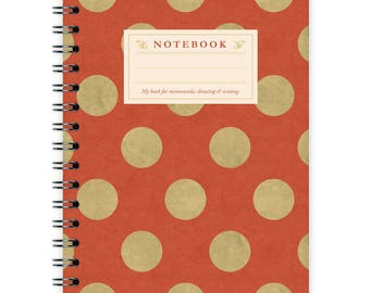 Notebook A6 - Red Dots Pattern