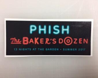 Phish The Baker's Dozen Sticker