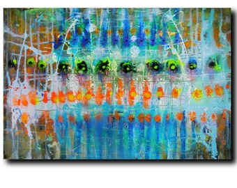 """Art  Abstract painting Canvas painting Contemporary painting  Original painting """" Shadows of the Dream"""" 24""""x36"""" Acrylic on Canvas fine art.."""