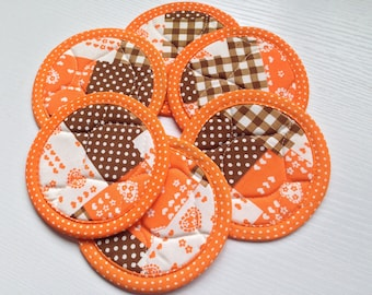 Vintage Round Quilted Coaster Set