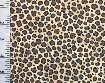 Leopard Print Fabric by the yard , 100% Cotton , High Quality , Big Cat Fabric , VIP by Cranston