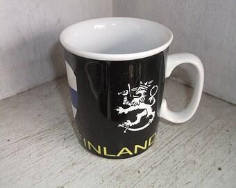 Souvenir FINLAND Suomi Ceramic Coffee Mug Cup