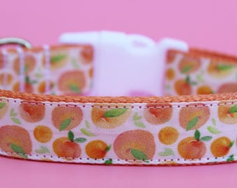 """Summer Dog Collar 1"""" Peach Dog Collar SIZE SMALL Ready To Ship"""