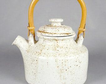 Vintage Pentik of Finland, Speckled Ceramic Teapot, pristine