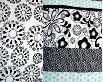 Coordinating Fabrics - Black and white prints - Fat Quarter or Half Yard sizes