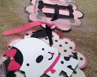 Puppy Banner, Dalmatian Birthday Banner, Puppy Party, Puppy Birthday, Dalmatian Theme, Dalmatian Happy Birthday Banner, CUSTOM ORDER