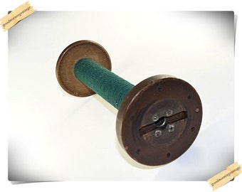 Large Industrial Wood Textile Spool