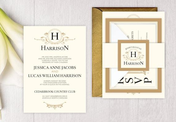 Sample wedding invitation suite romantic style wedding invite il570xn stopboris Gallery