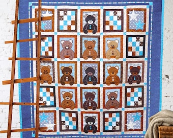 Bear quilt pattern | Etsy : bear quilt patterns - Adamdwight.com